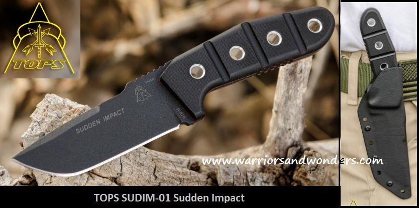 TOPS SUDIM01 Sudden Impact w/Kydex Sheath (Online Only)