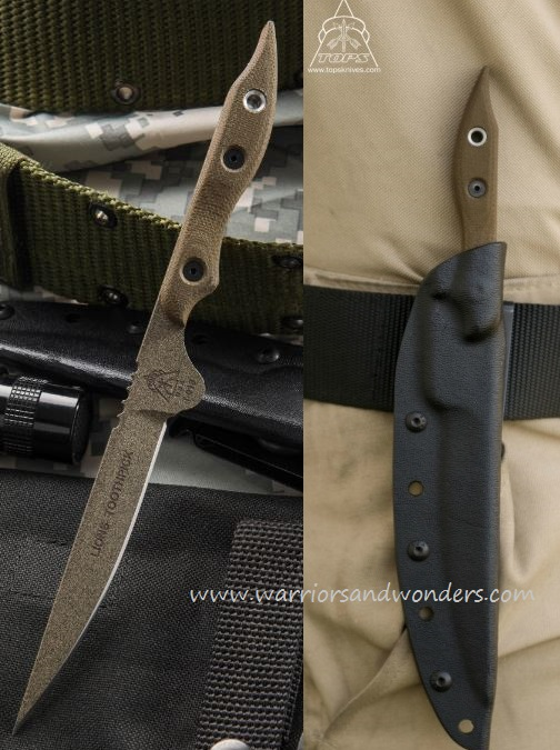 TOPS TOOTH-01 Lion's Toothpick w/Kydex Sheath