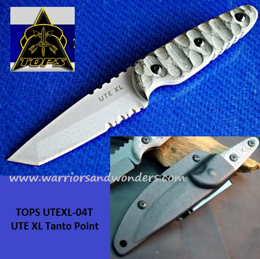 TOPS UTEXL04T UTE XL Tanto Point w/ Kydex Sheath (Online Only)