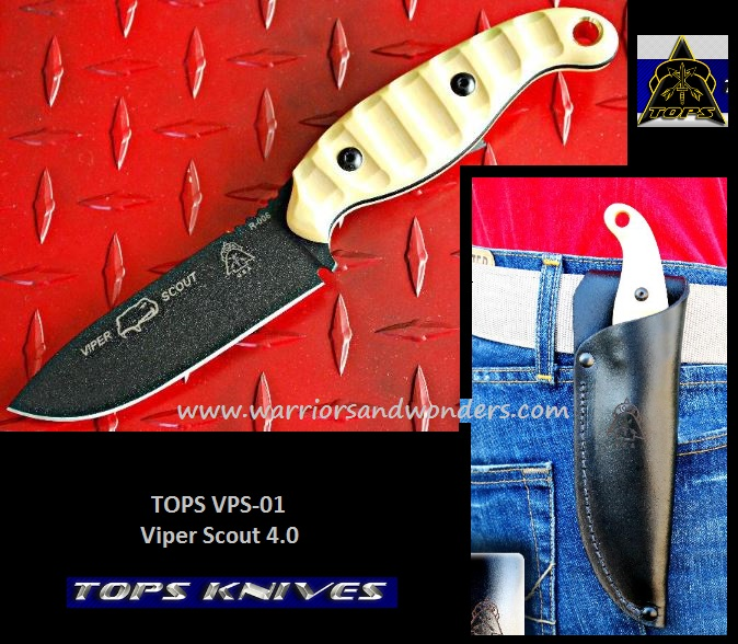 TOPS VPS01 Viper Scout 4.0 w/ Leather Sheath