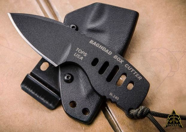 TOPS BBC01 Baghdad Box Cutter w/Kydex Sheath (Online Only)