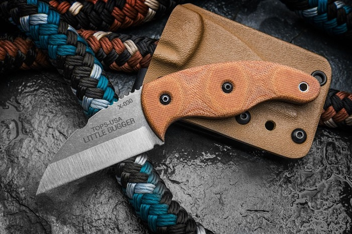 TOPS LILB-01 Little Bugger w/Kydex Sheath EDC LILB01