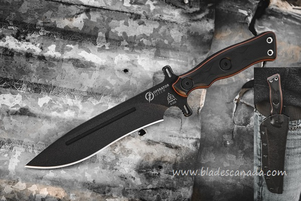 TOPS OP7-02 Operator 7 Fighting Knife - Blackout Edition