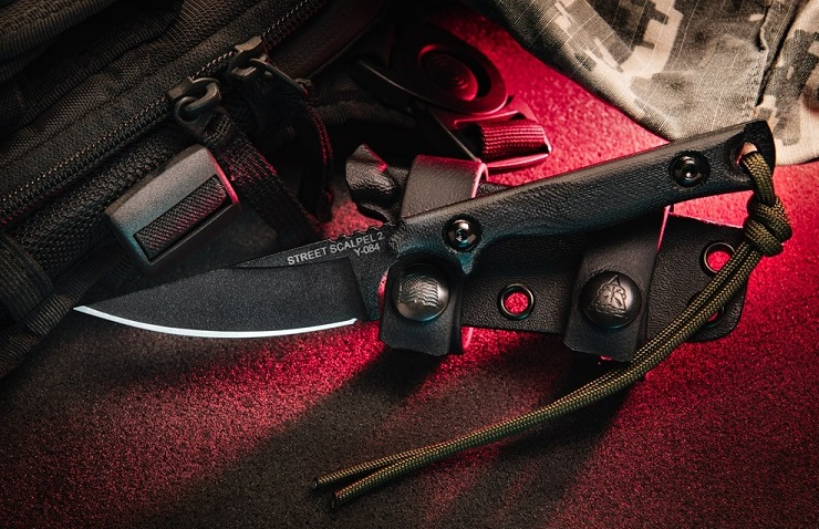 Tops SSS-02 Street Scalpel 2.0 Black Micarta Handle