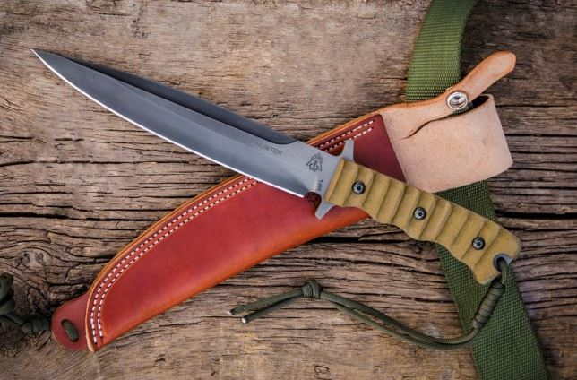 TOPS WPH07 Wild Pig Hunter w/Leather Sheath