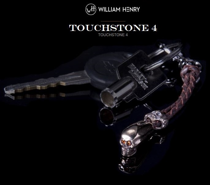 William Henry Touchstone 4 Bronze Skull Key Chain