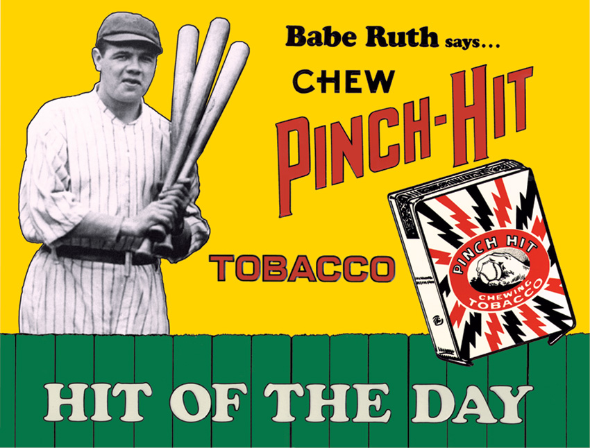 Tin Sign 0059 Babe Ruth - Pinch Hit