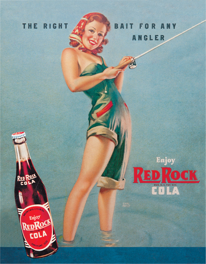 Tin Sign 0288 Red Rock Cola - Girl Fishing