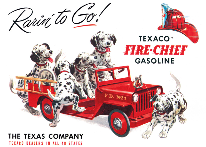 Tin Sign 0594 Texaco - Rarin' To Go