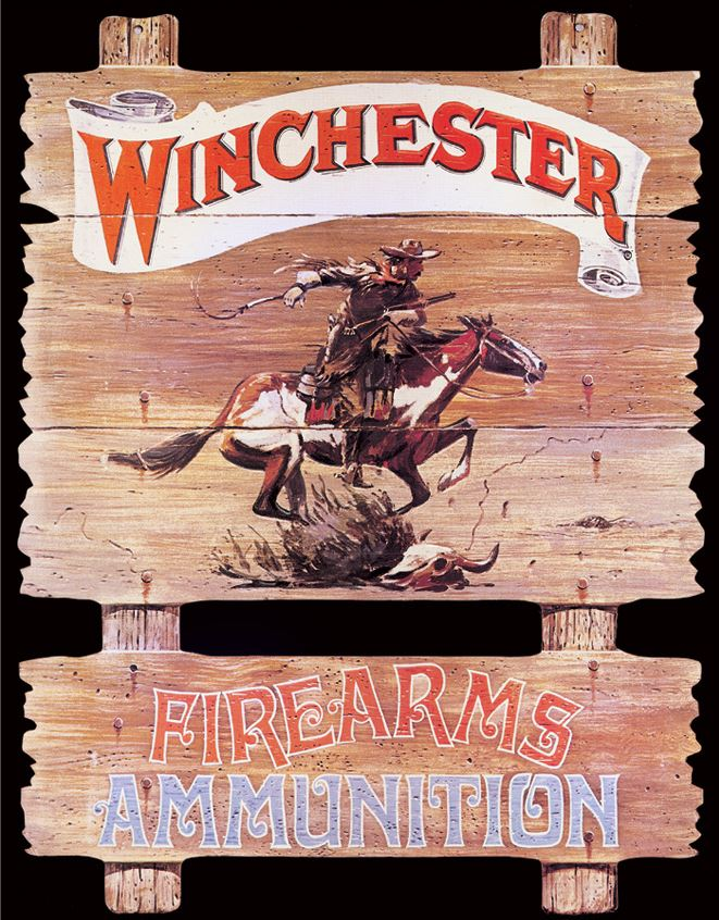 Tin Sign 0939 Winchester - Express Rider