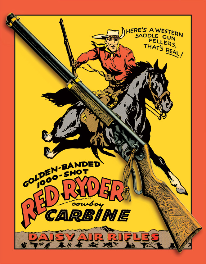 Tin Sign 0953 Daisy Red Ryder Carbine