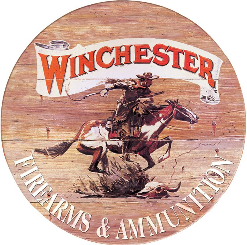 Tin Sign 0975 Winchester Express - Round