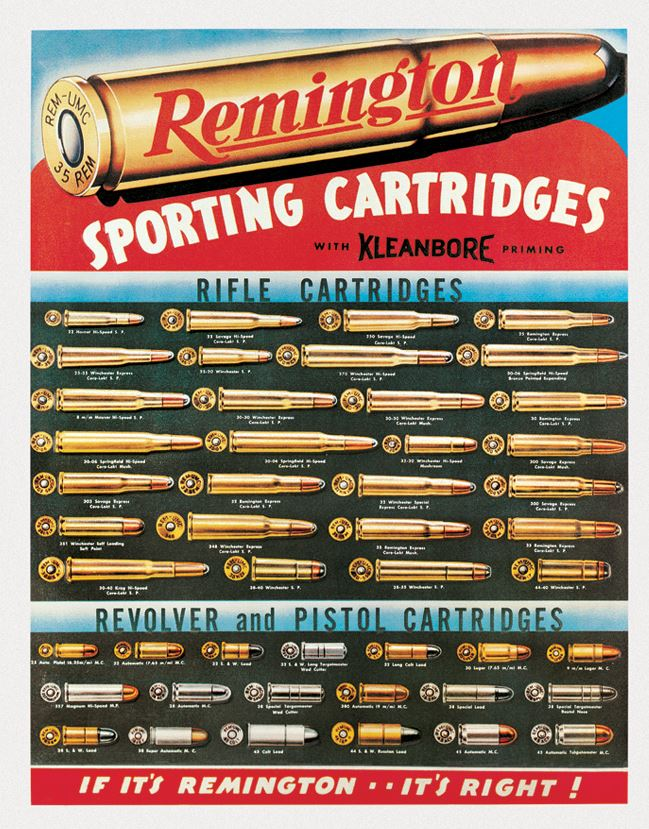 Tin Sign 1001 Remington Sporting Cartridges