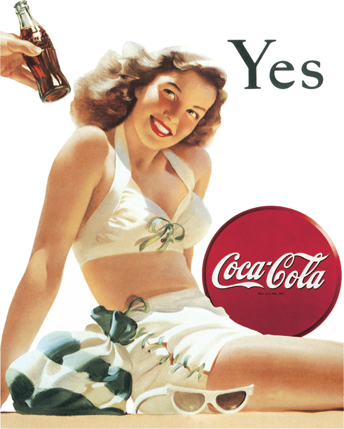 Tin Sign 1056 Coke 'Yes'