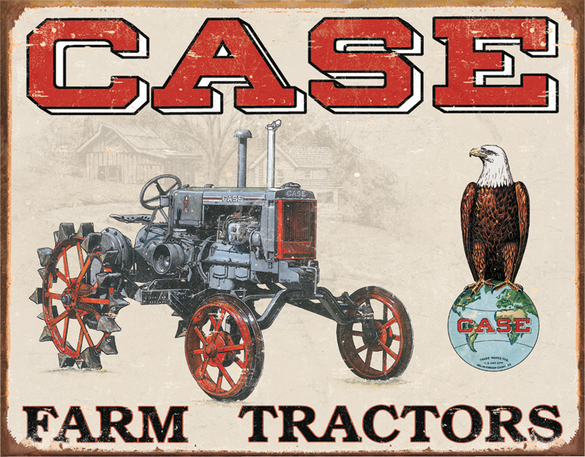 Tin Sign 1230 Case Tractor - CC High