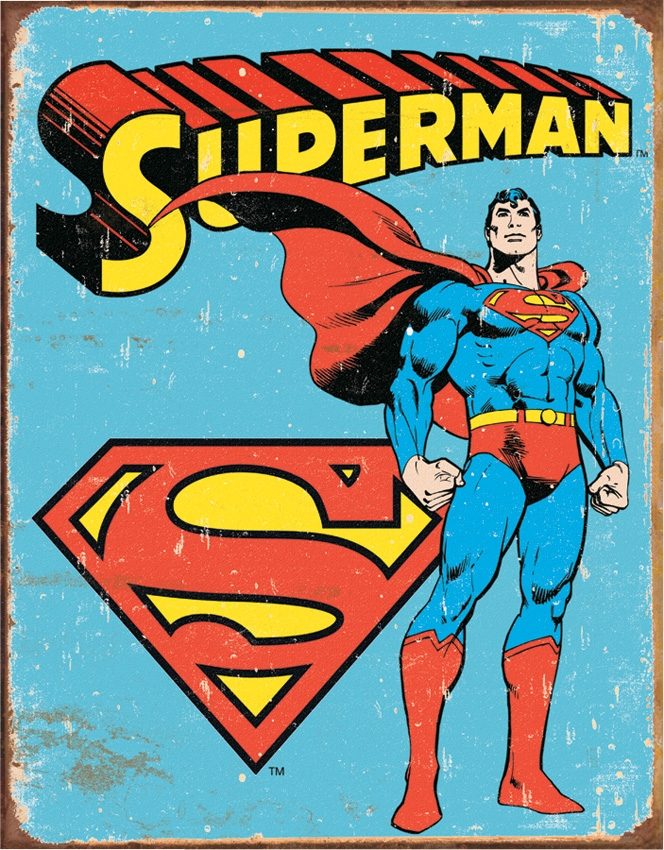 Tin Sign 1335 Superman Retro