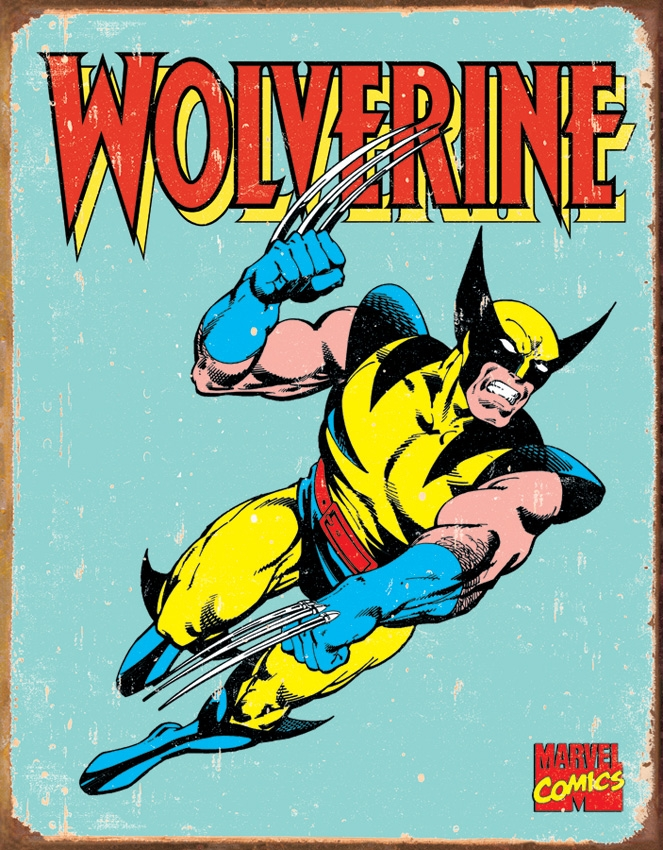 Tin Sign 1480 Wolverine Retro