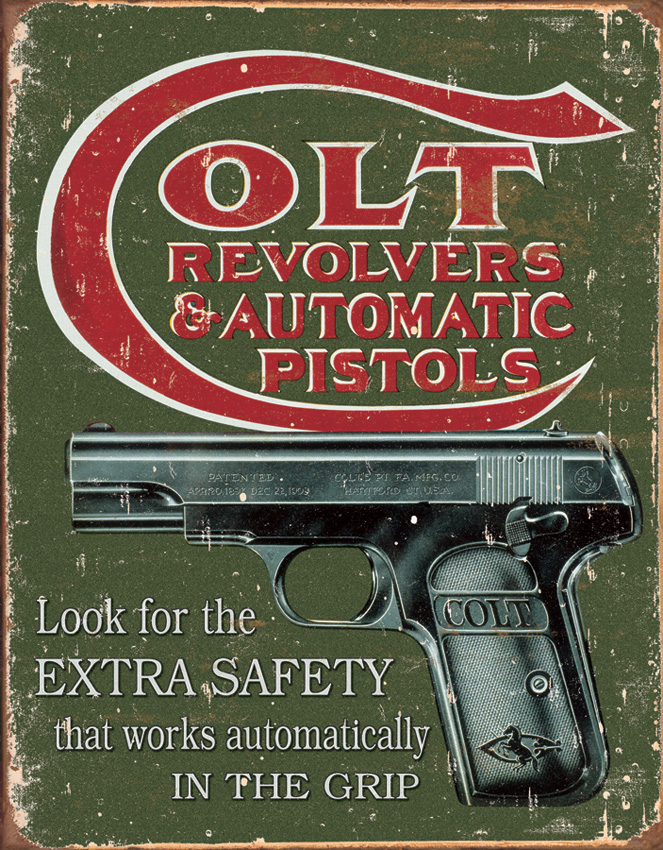 Tin Sign 1592 Colt - Extra Safety