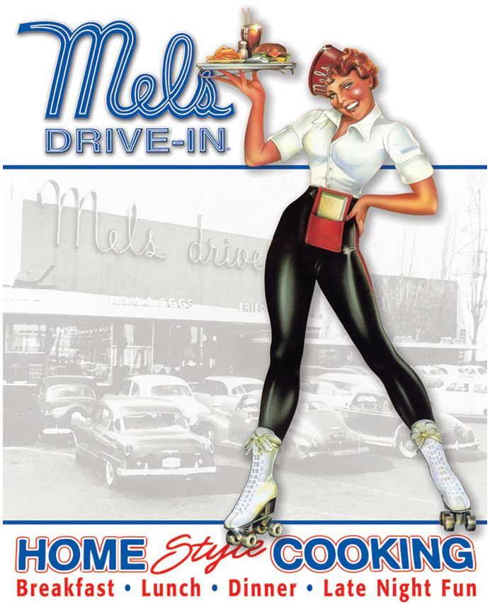 Tin Sign 1676 Mel's Drive-In