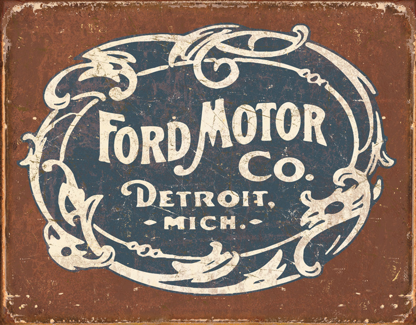 Tin Sign 1707 Ford - Historic Logo