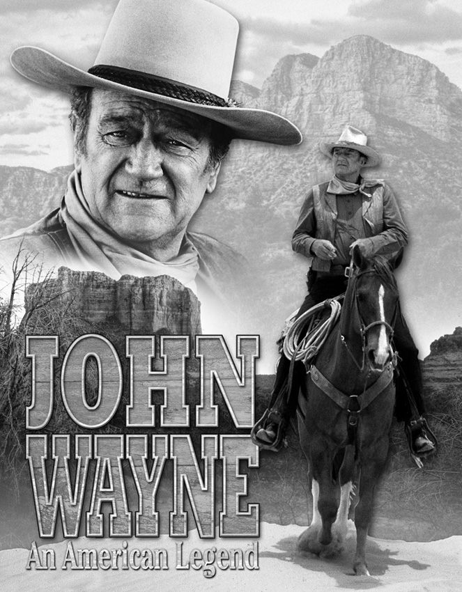 Tin Sign 1748 John Wayne - An American Legend