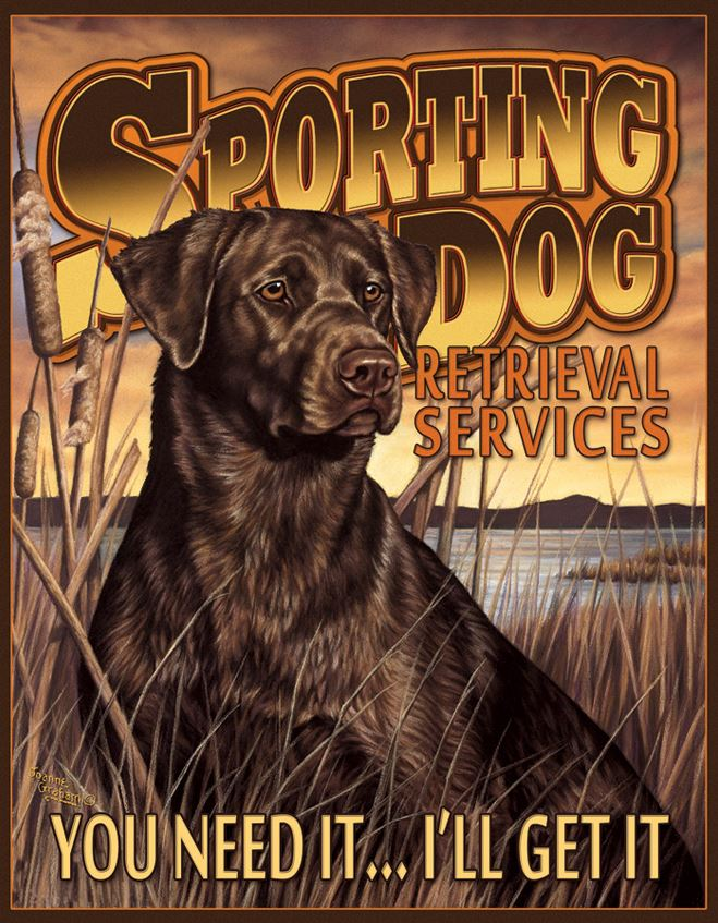 Tin Sign 1772 Sporting Dog Services