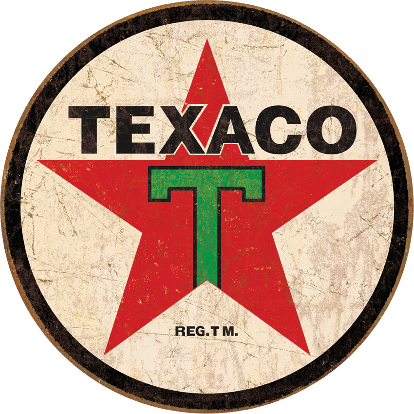 Tin Sign 1798 Texaco Round