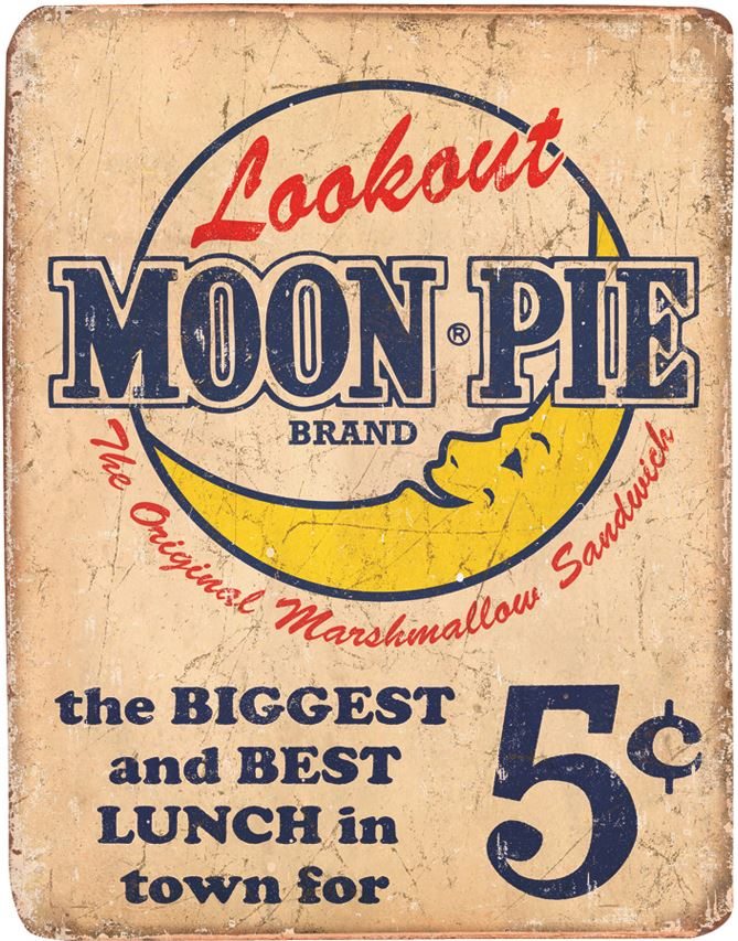 Tin Sign 1801 Moon Pie Best Lunch