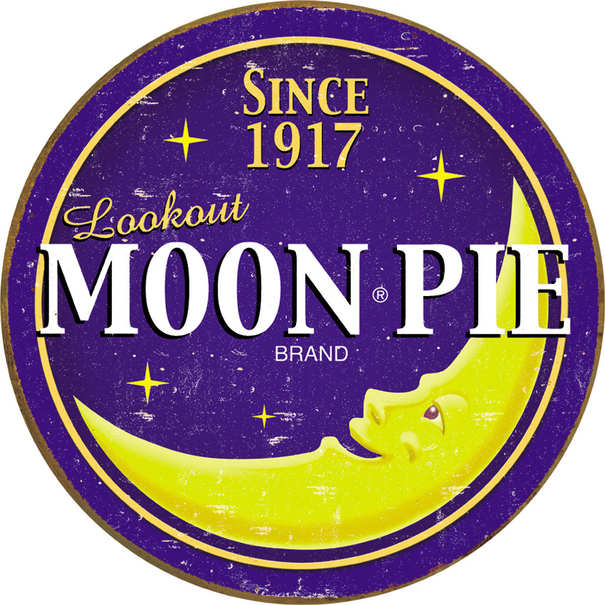 Tin Sign 1802 Moon Pie Round