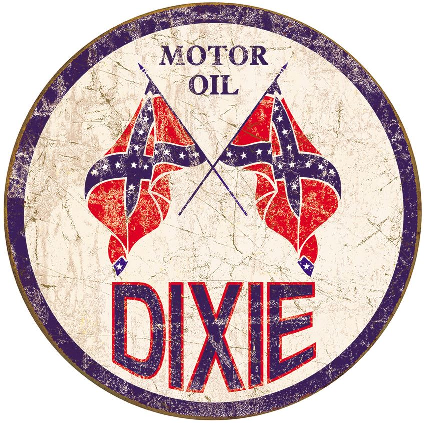 Tin Sign 1954 Dixie Motor Oil