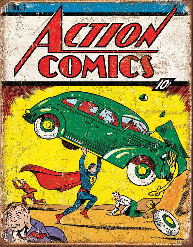 Tin Sign 1965 Action Comics No. 1