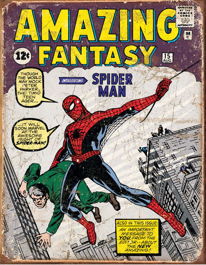 Tin Sign 1971 Spider Man Cover
