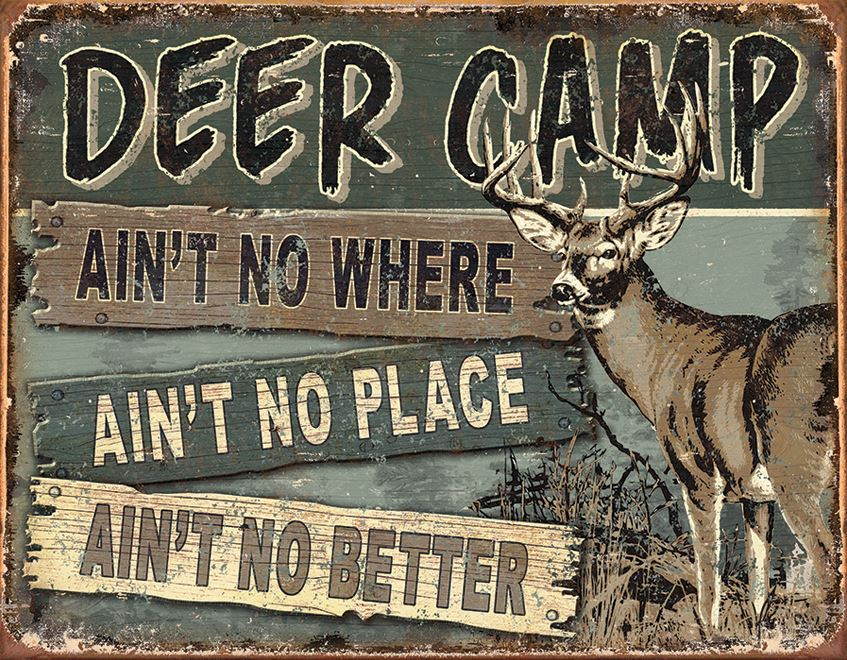 Tin Sign 1983 Deer Camp