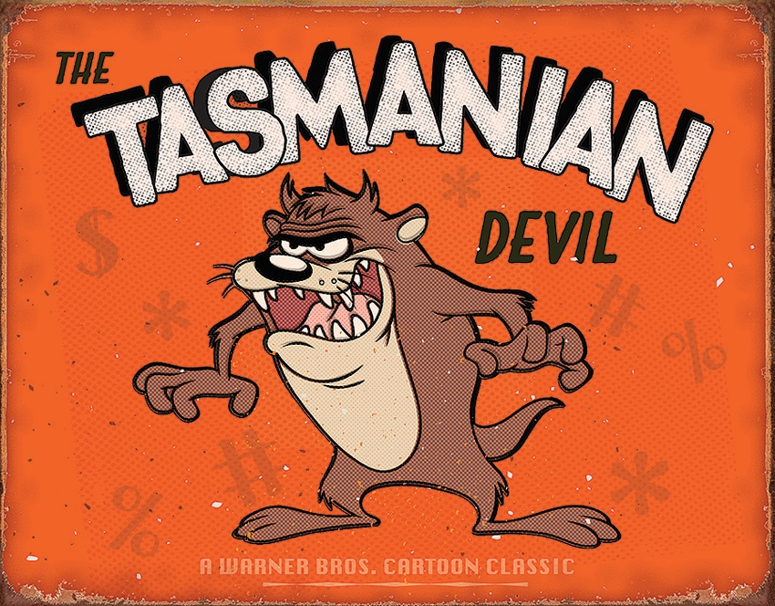Tin Sign 2180 Tasmanian Devil