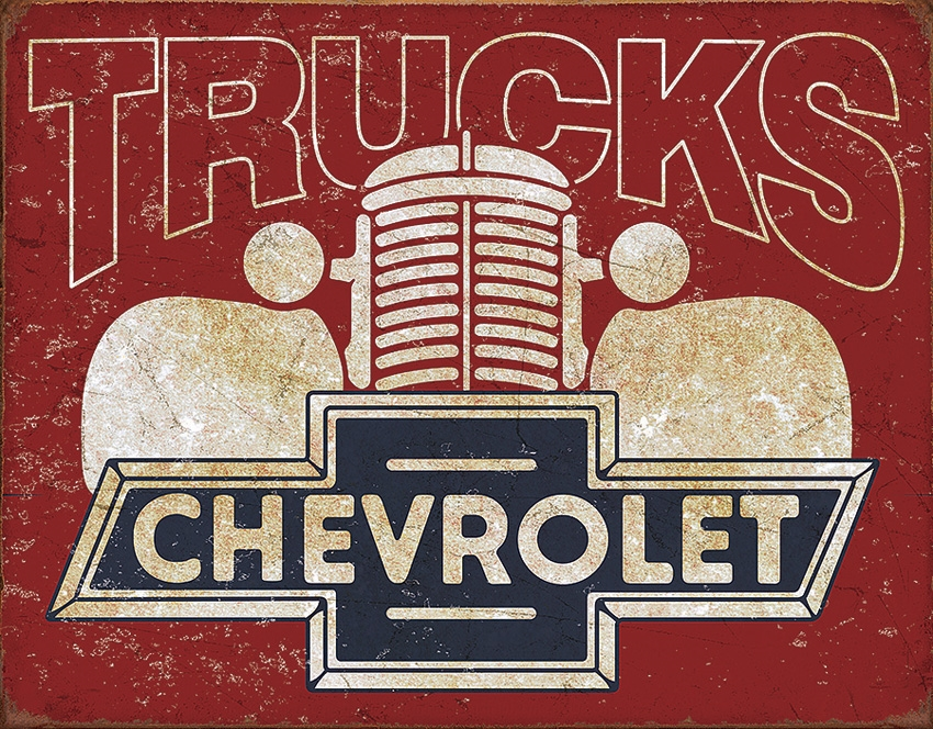 Tin Sign 2197 Chevy Trucks Vintage