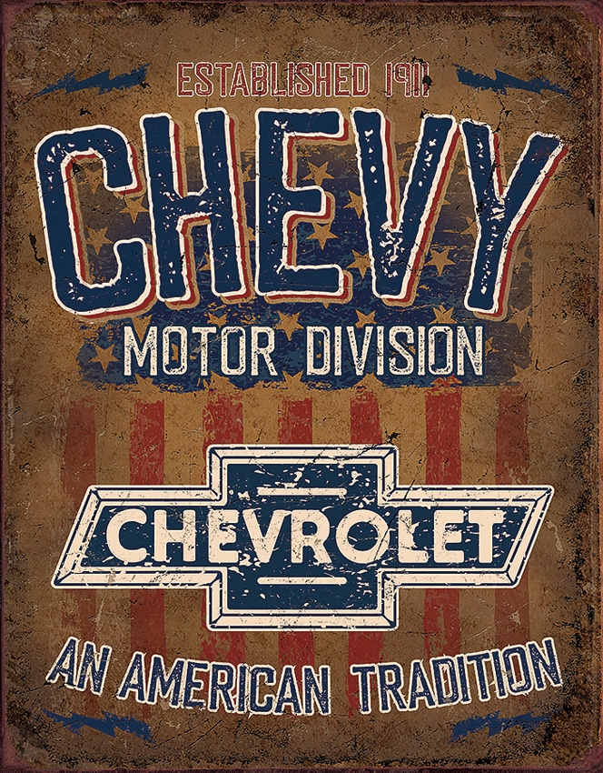 Tin Sign 2204 Chevy American Tradition