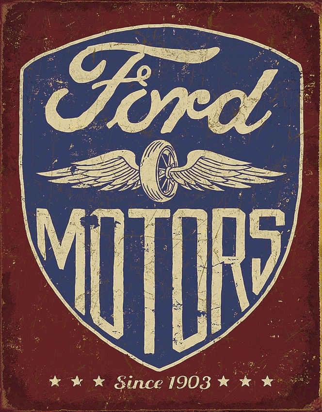 Tin Sign 2205 Ford Motors Since 1903