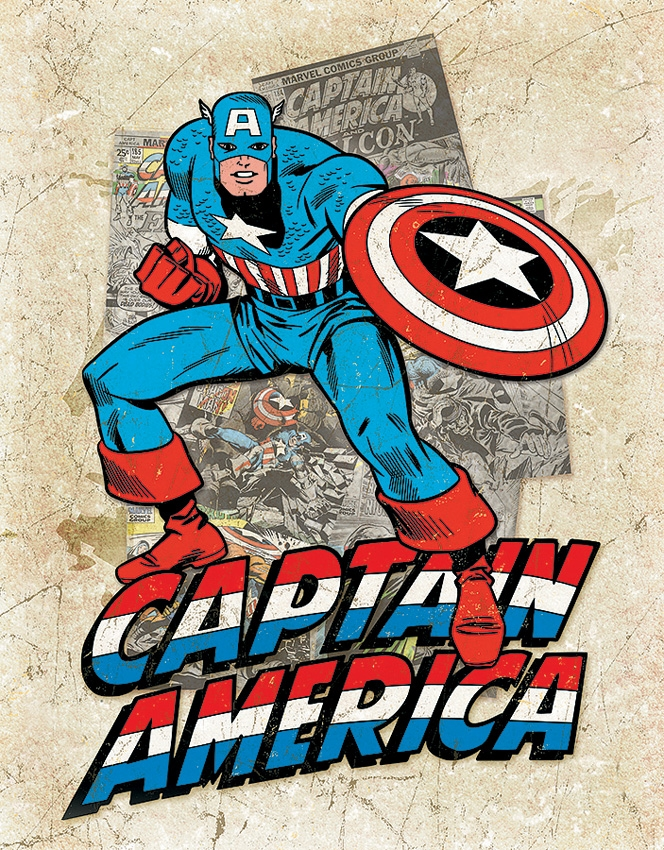 Tin Sign 2206 Captain American Cover Splash