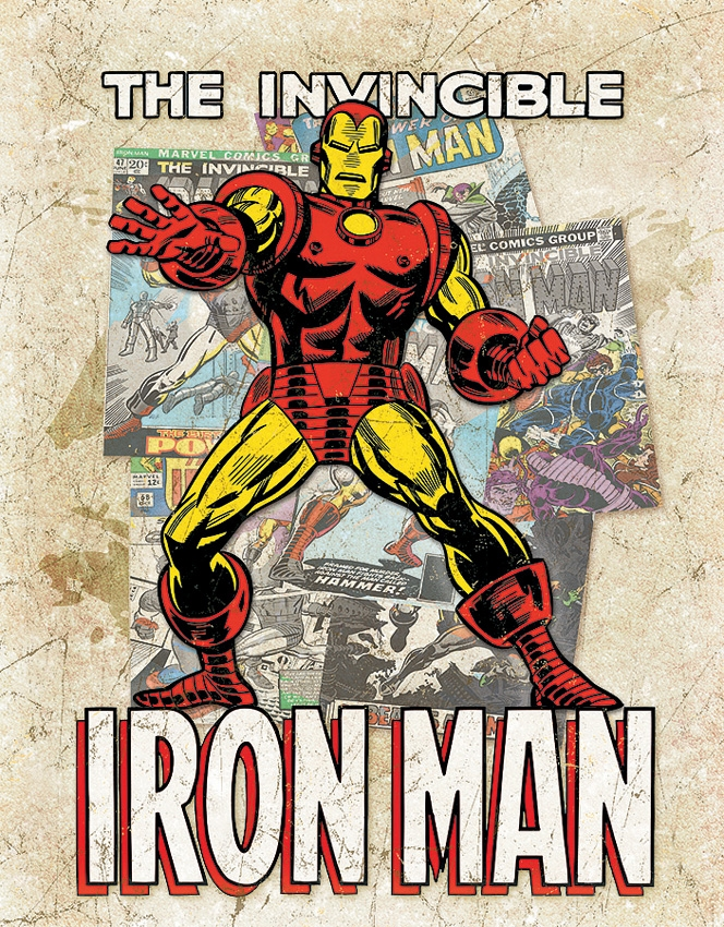 Tin Sign 2208 The Invincible Iron Man [Splash]
