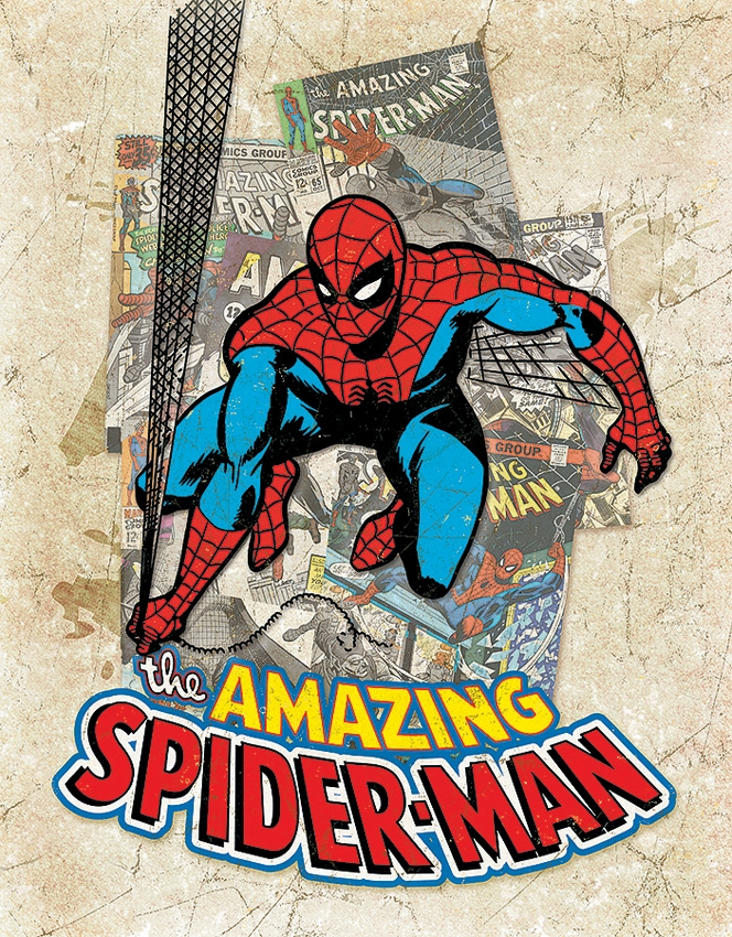 Tin Sign 2210 Spider-Man Cover Splash