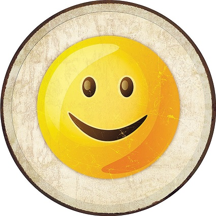 Tin Sign 2275 Round Emoji - Smile
