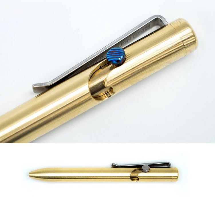 Tactile Turn Bolt Action Pen Mini - Bronze w/Timascus Bolt