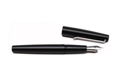 Tactile Turn Gist Fountain Pen- Black Delrin w/ Clip [Fine]