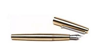Tactile Turn Gist Fountain Pen - Brass w/ Silver Clip