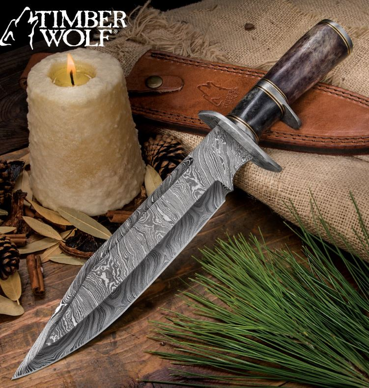 Timber Wolf Prairie Moon Damascus Bowie TW642