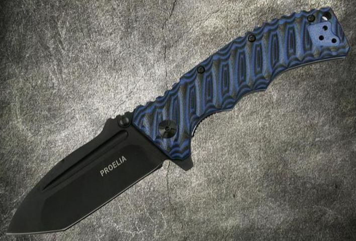 Proelia Tanto Black- Blue and Black, TX010BLBK (Online Only)