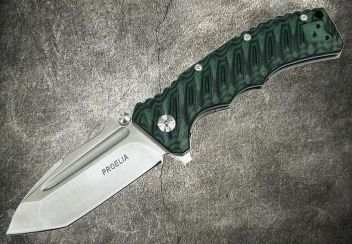 Defcon 010GNS Proelia Tanto Satin - Green and Black