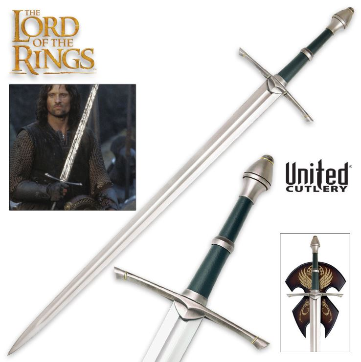 United UC1299 LOTR Sword Of Strider w/Display Plaque (Online Only)
