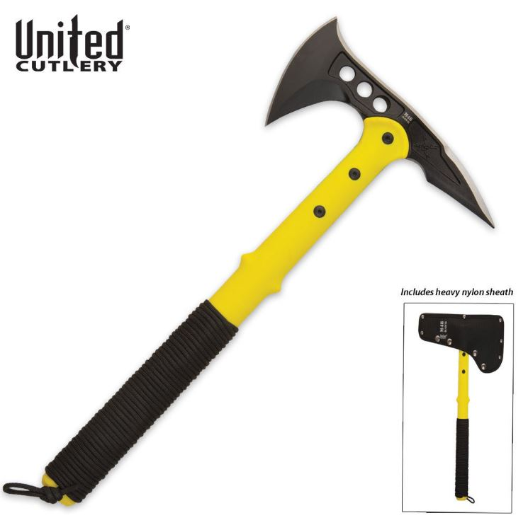 United M48 Kommando Survival Rescue Axe Yellow 2820 (Online)
