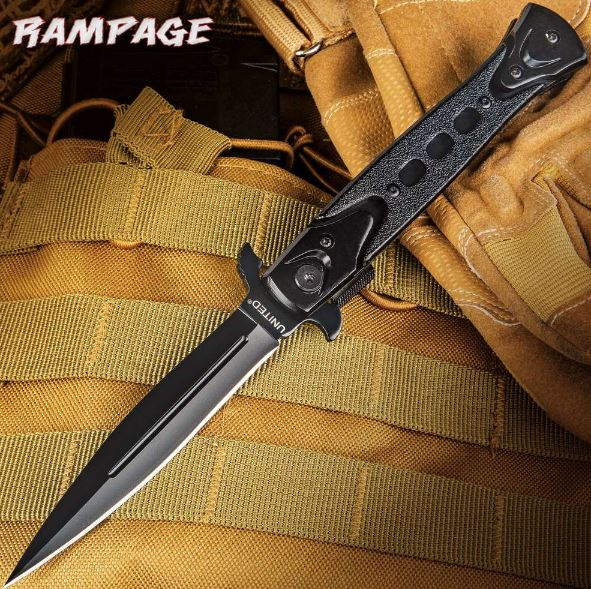 Rampage Stiletto Folding Knife, Assisted Opening, UC2885